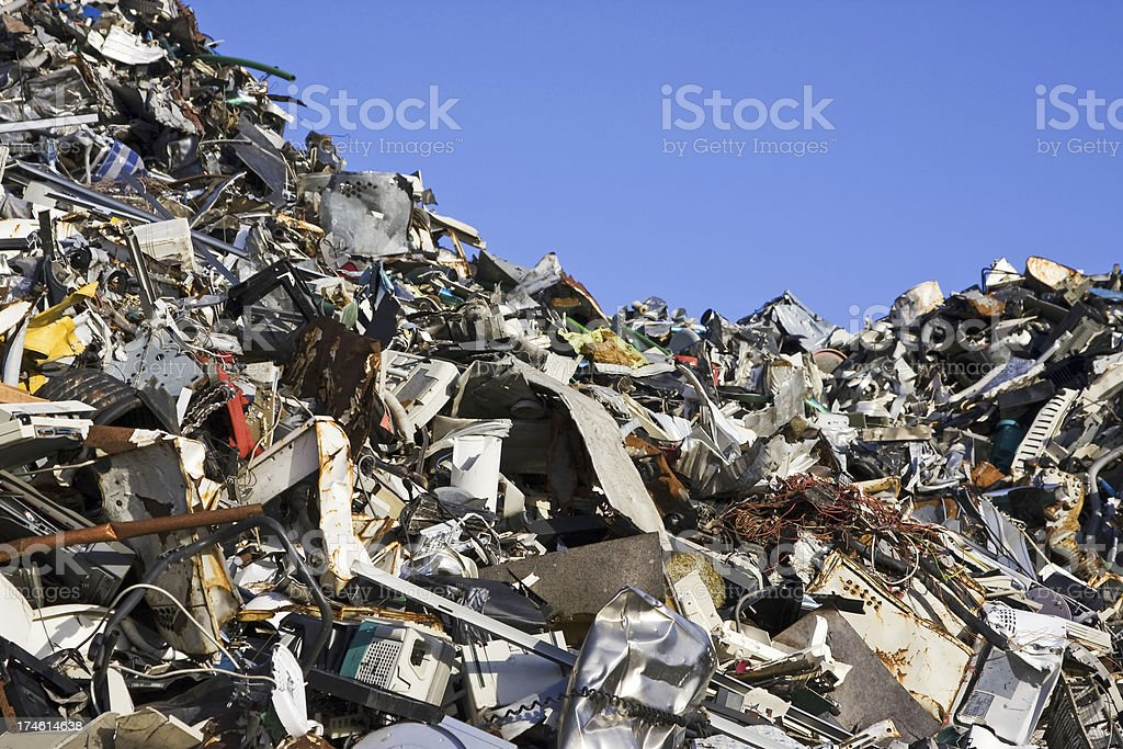 Scrap metal and iron # 24 XL royalty-free stock photo