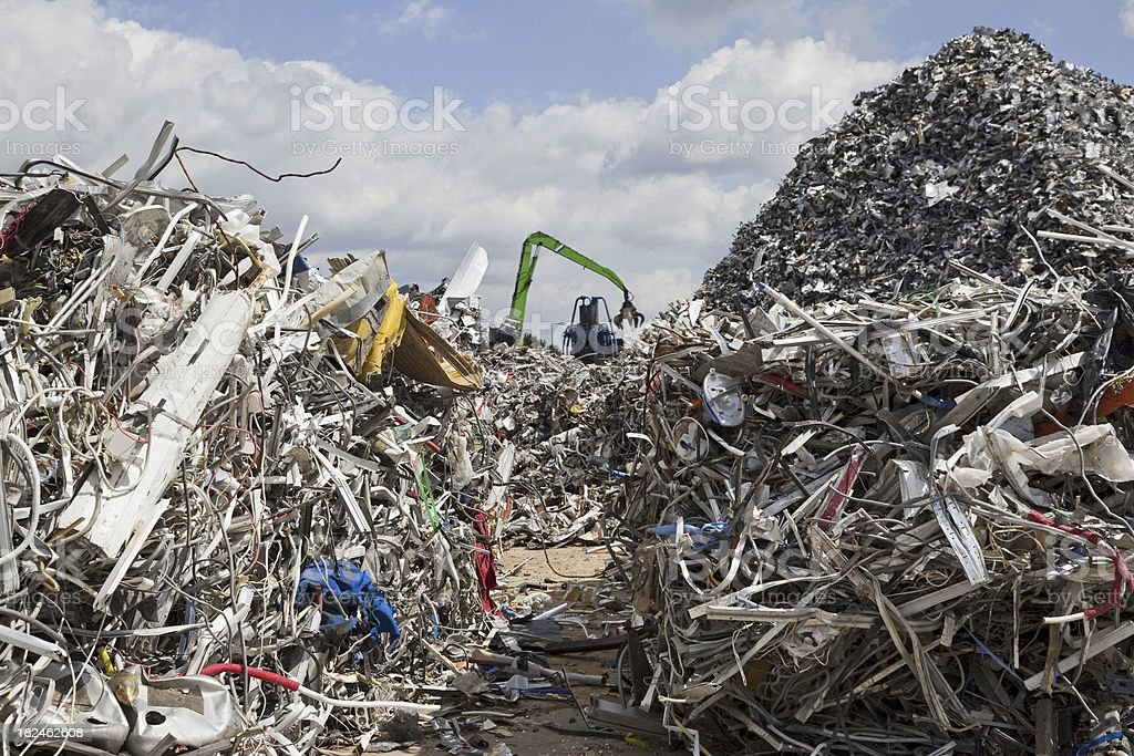 Scrap metal and iron # 40 XXXL royalty-free stock photo