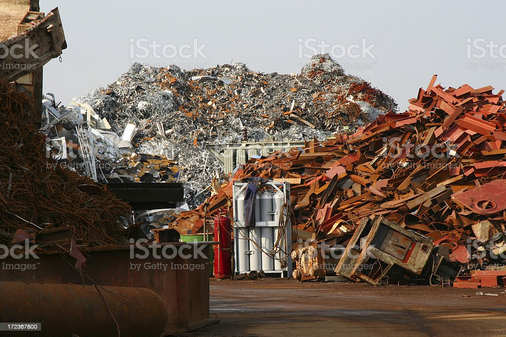 Scrap metal and rusty iron # 15 royalty-free stock photo