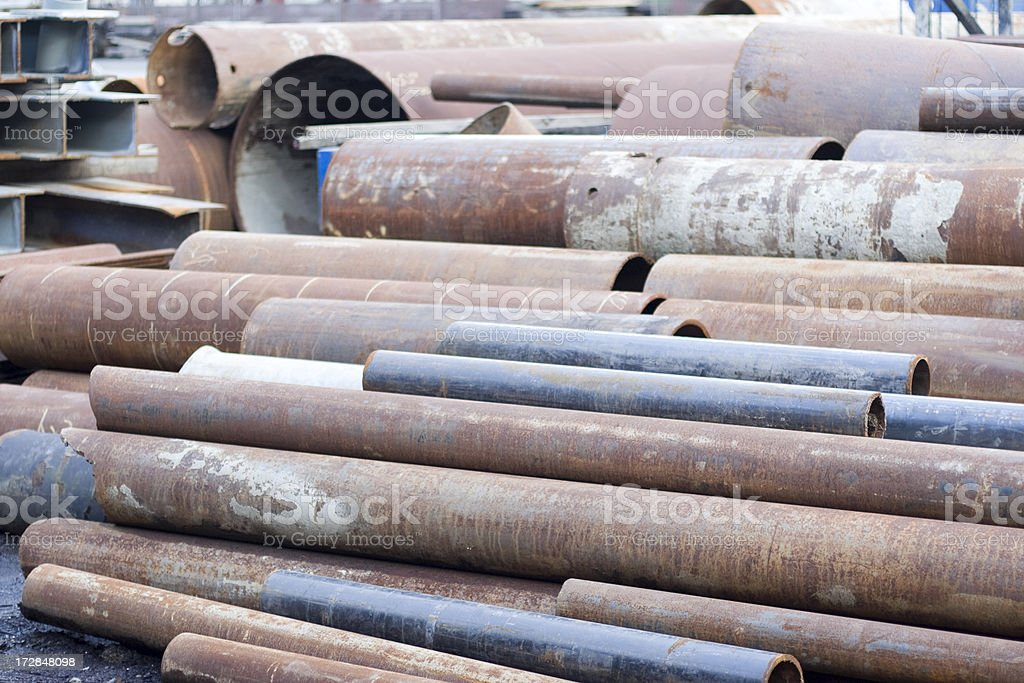 Scrap metal and rusty pipes royalty-free stock photo