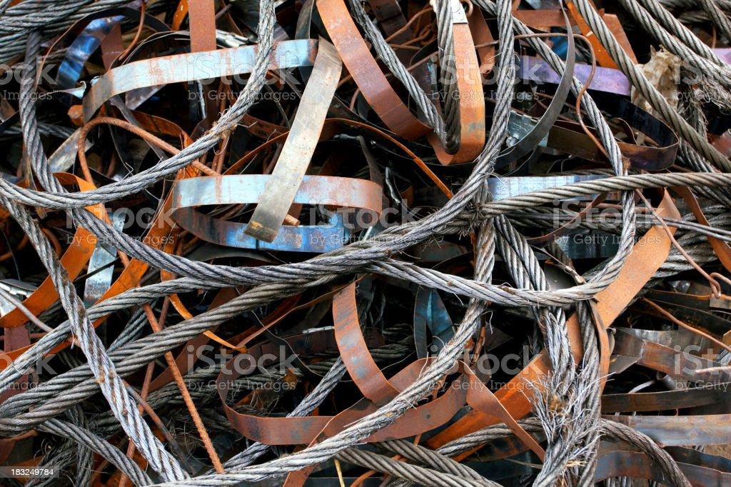 Scrap Metal Background stock photo