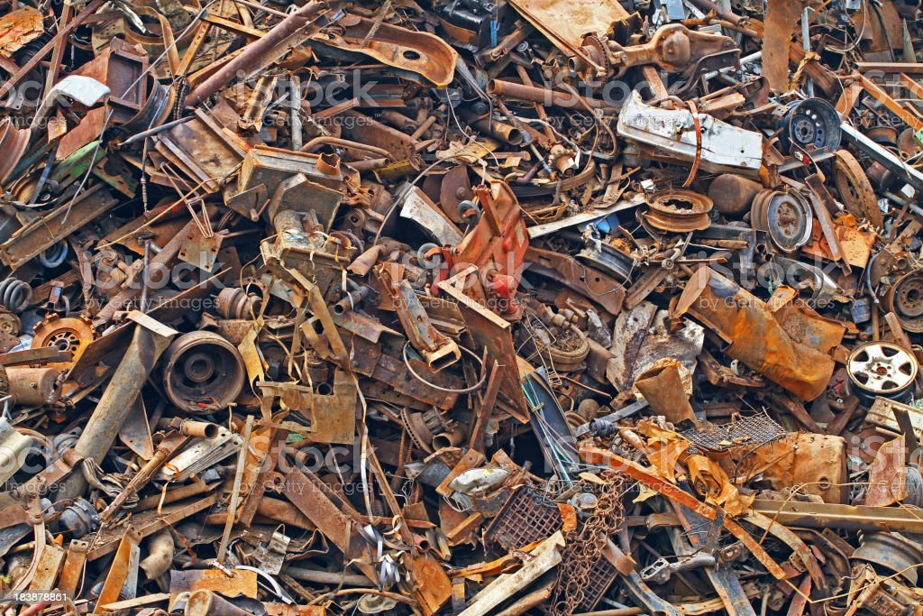 Scrap Metal Background stock photo