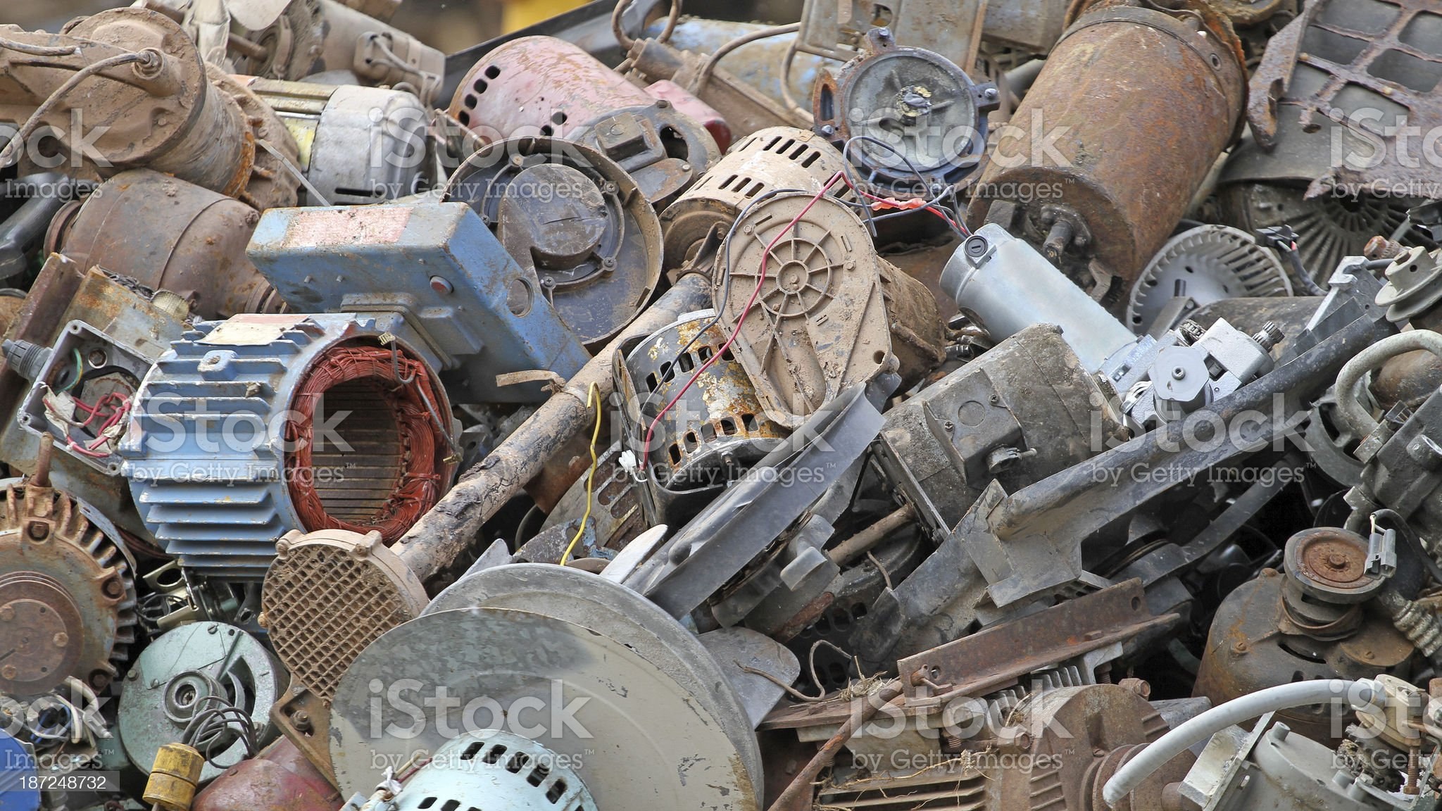 Scrap Metal Background royalty-free stock photo