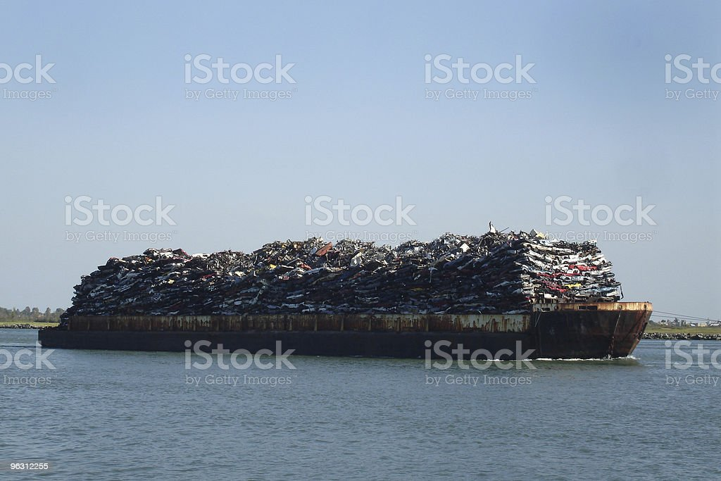 Scrap Metal Barge royalty-free stock photo