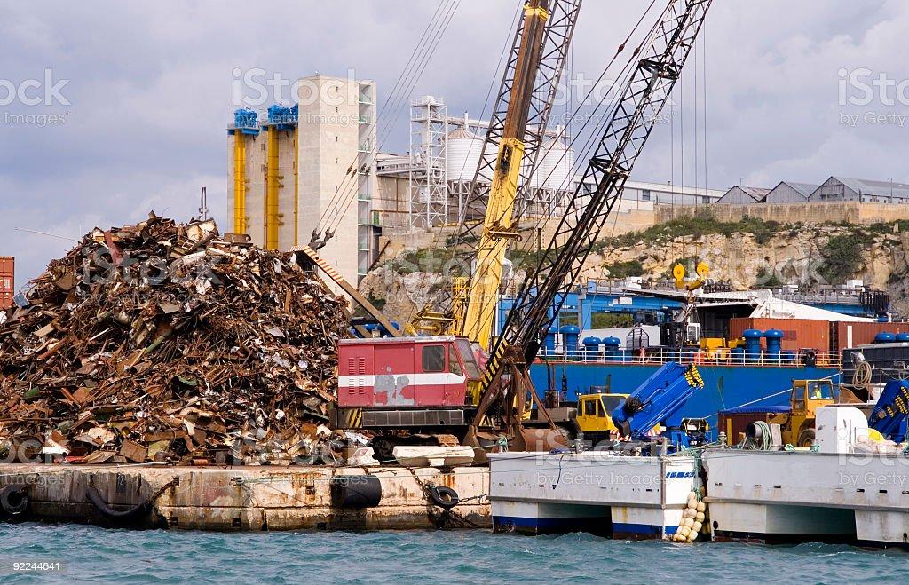 Scrap metal facility in Malta royalty-free stock photo
