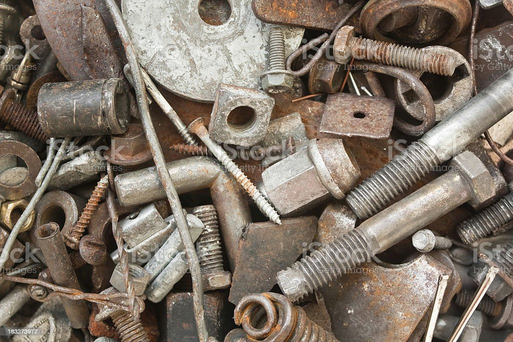 Scrap Metal for Recycling royalty-free stock photo