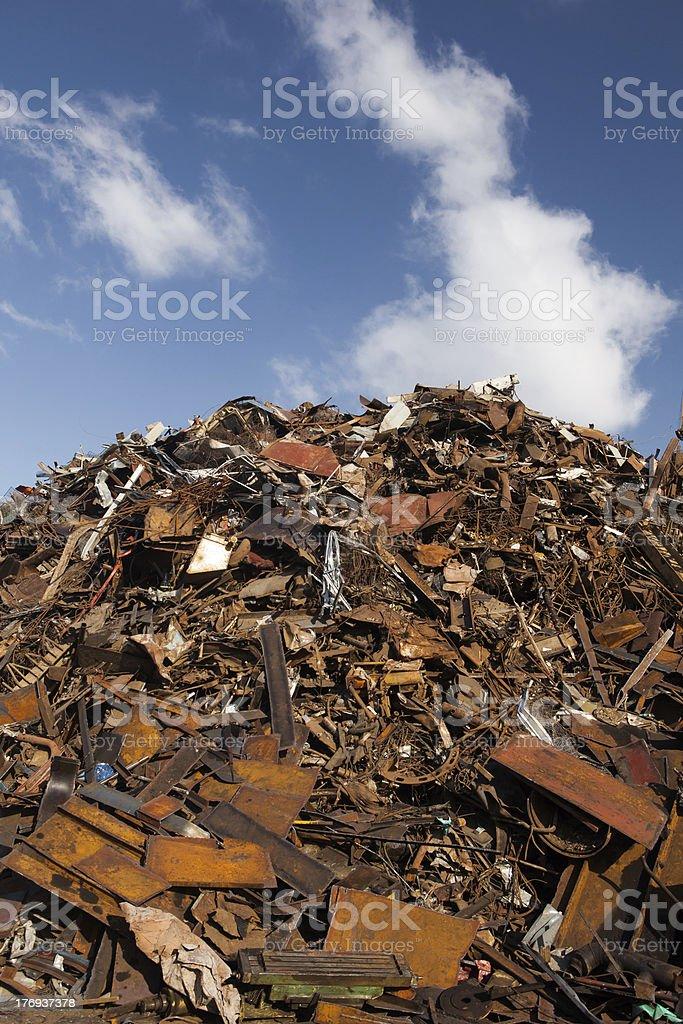 scrap metal heap royalty-free stock photo