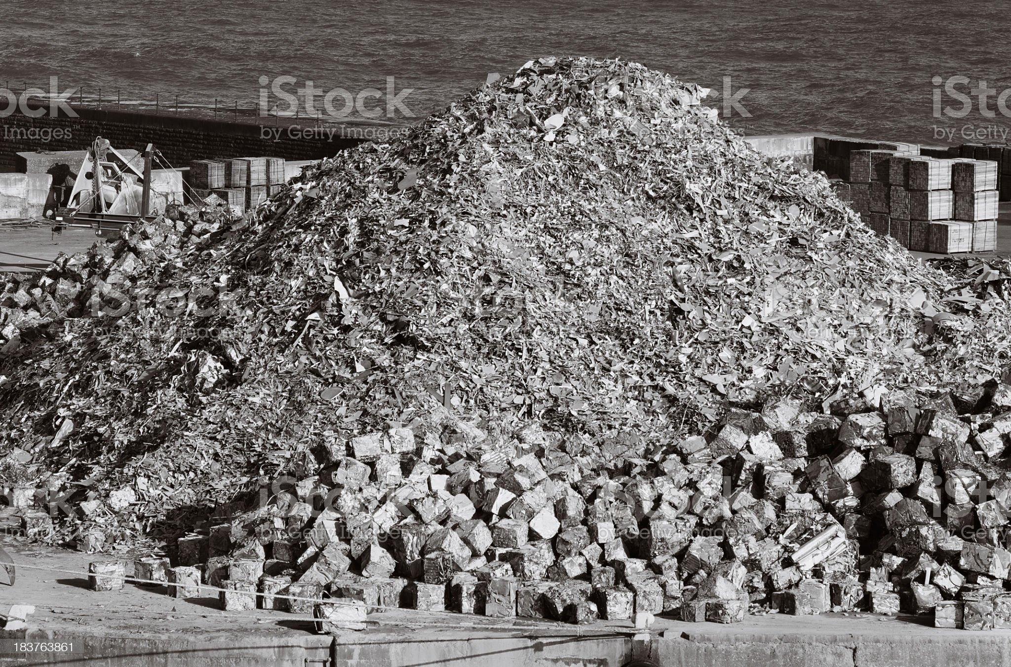 Scrap metal heap - Waste recycling royalty-free stock photo