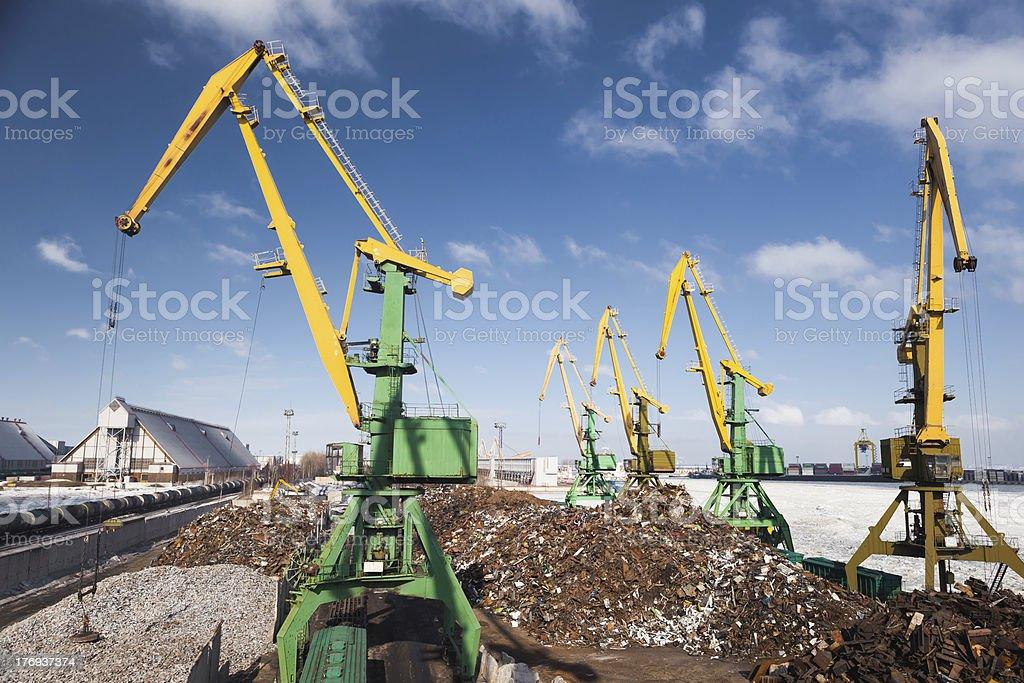 scrap metal loading royalty-free stock photo