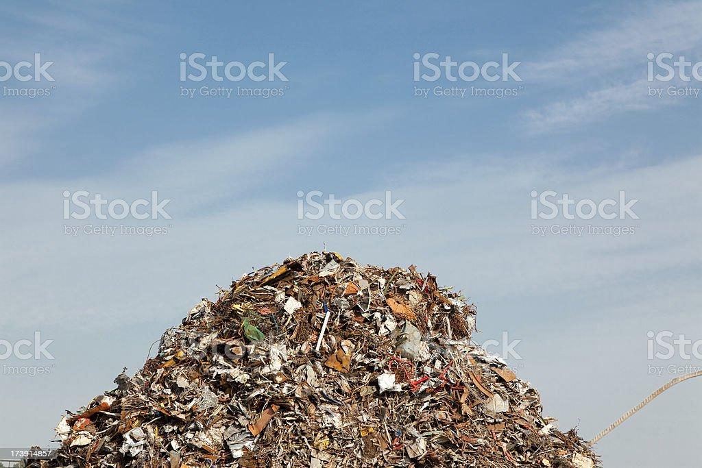 scrap metal mountain stock photo
