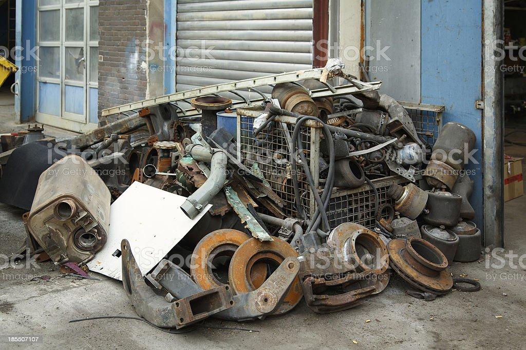 Scrap metal, old car parts royalty-free stock photo