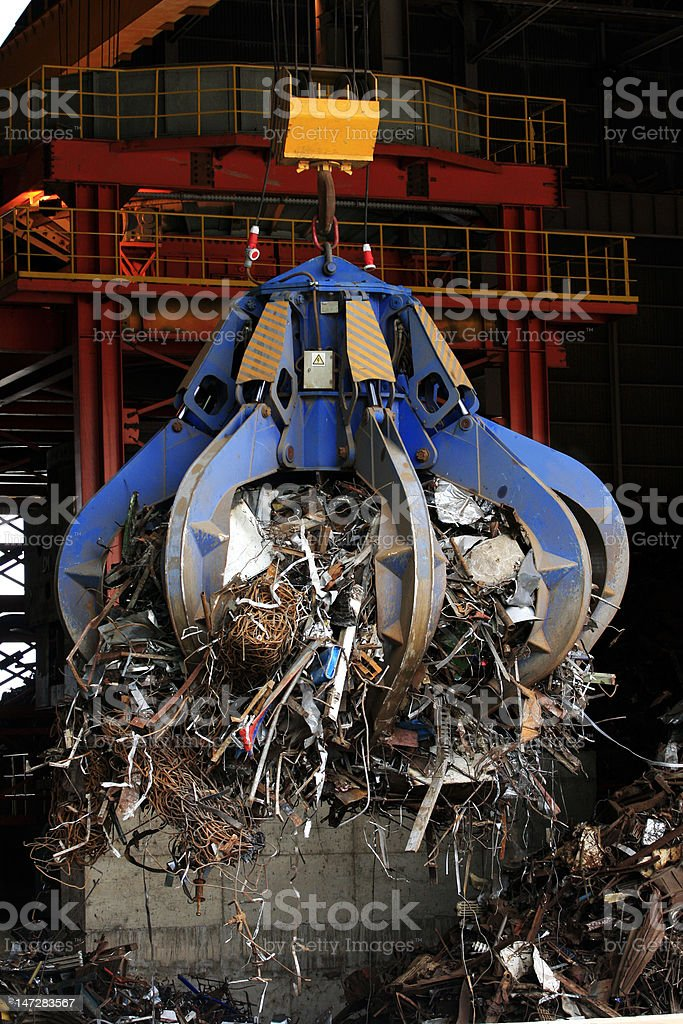 Scrap metal stock photo