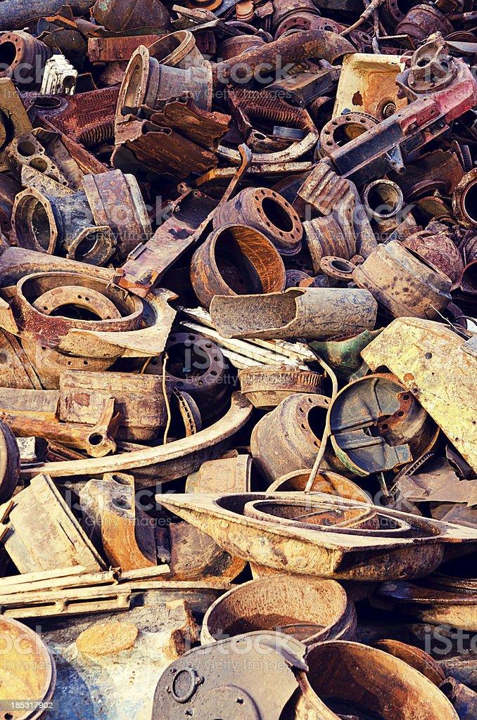 Scrap Metal Pile royalty-free stock photo