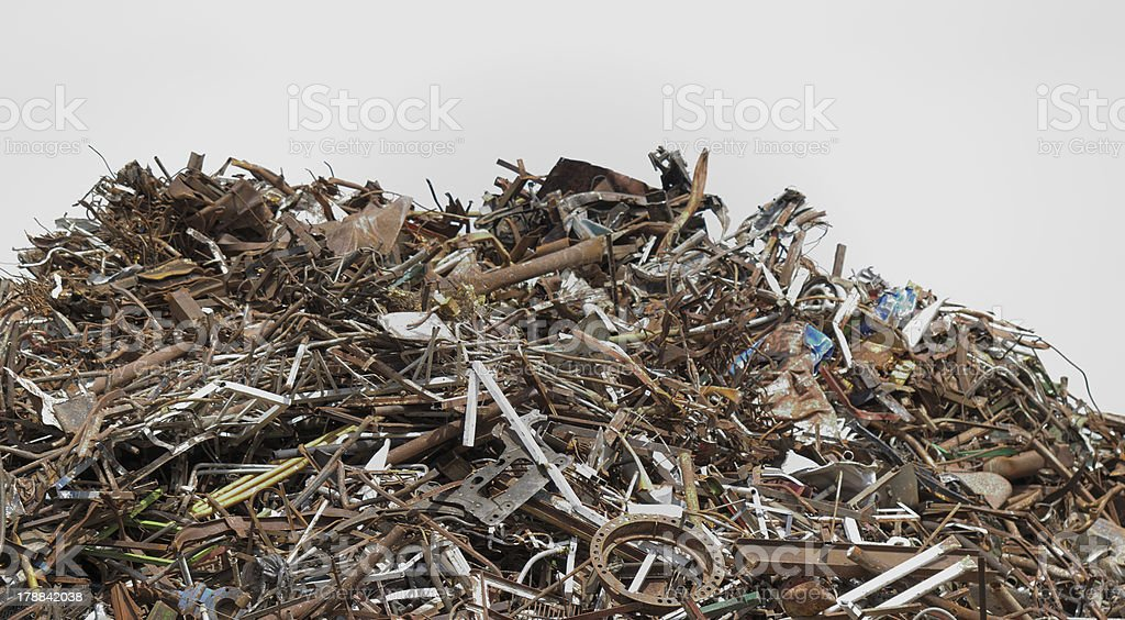 scrap metal processing industry royalty-free stock photo