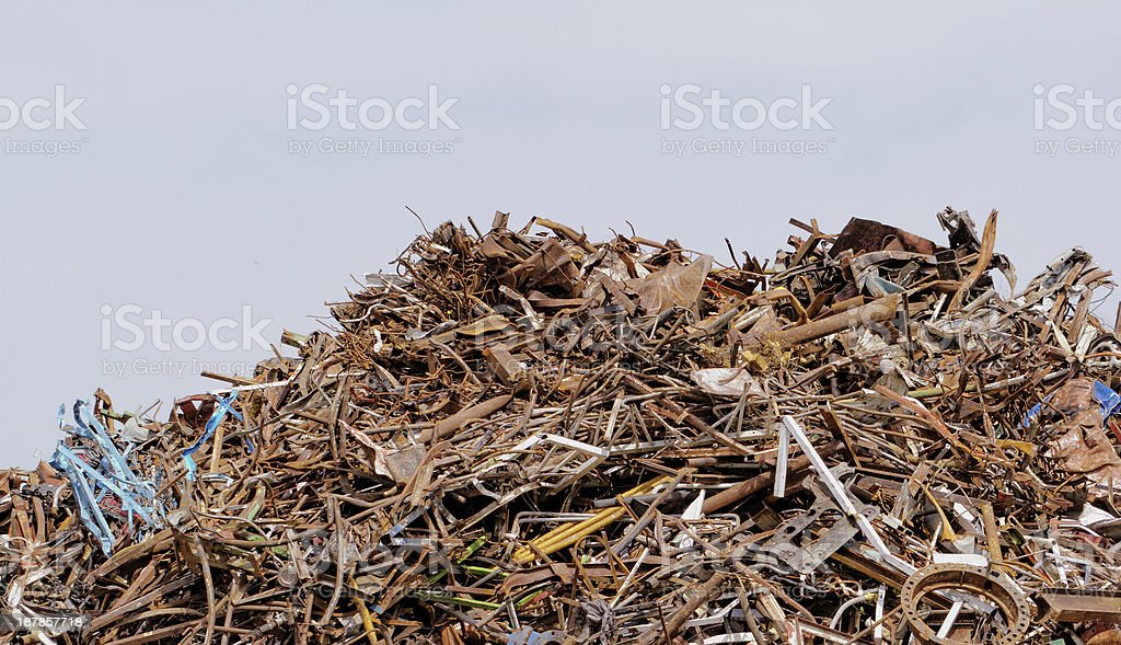 scrap metal processing industry royalty-free stock photo