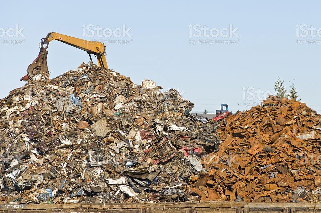 Scrap metal recycler royalty-free stock photo