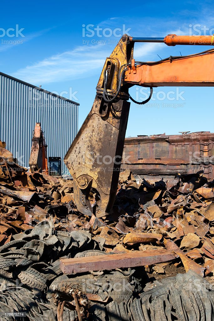 Scrap Metal Recycling Yard royalty-free stock photo