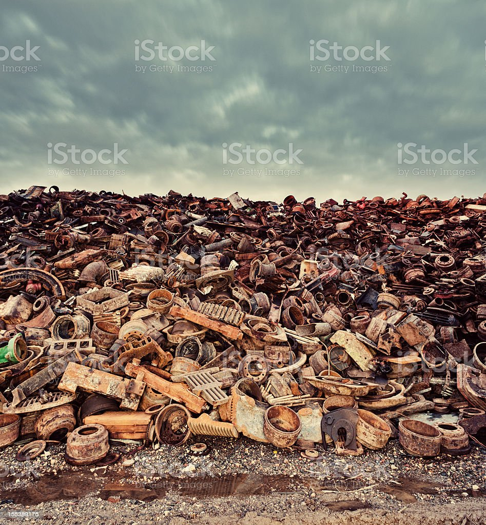 Scrap Metal Skies stock photo