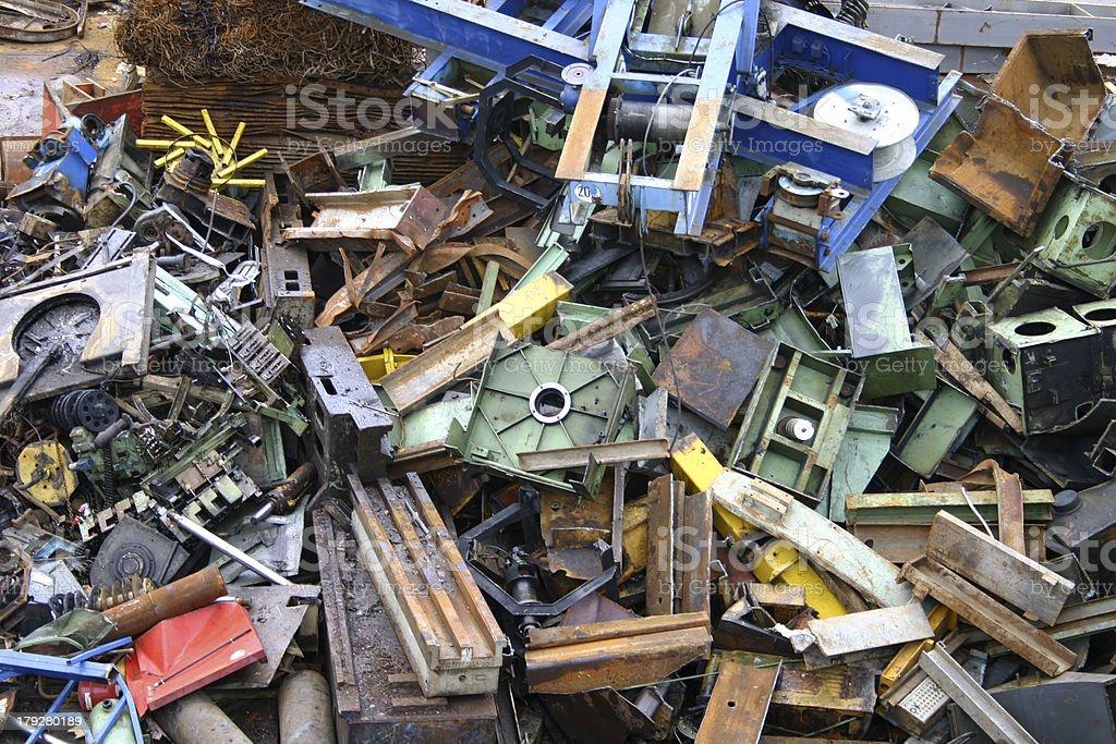 Scrap metal yard - 3 royalty-free stock photo