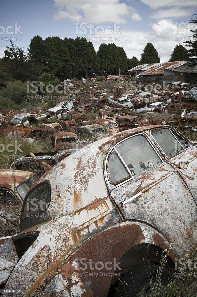 Scrap Metal Yard royalty-free stock photo