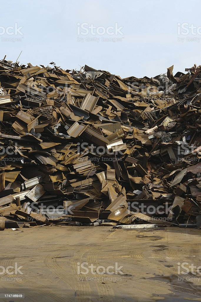 Scrap mountain royalty-free stock photo