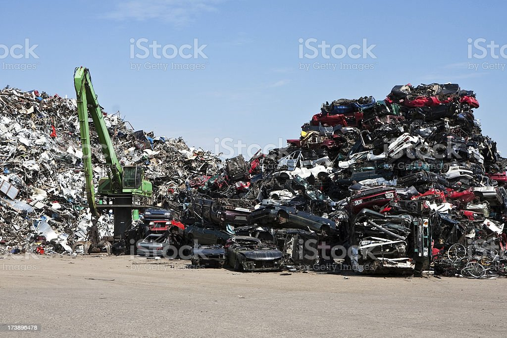 Scrap mountains royalty-free stock photo