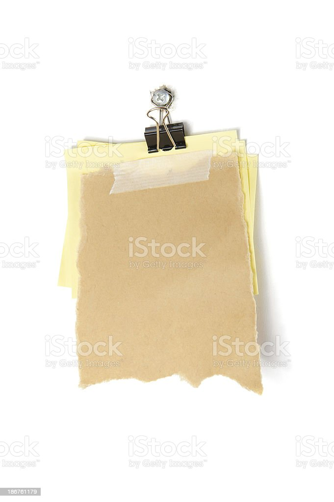 Scrap Paper and Sticky Note royalty-free stock photo