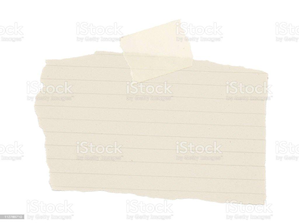 Scrap Paper royalty-free stock photo