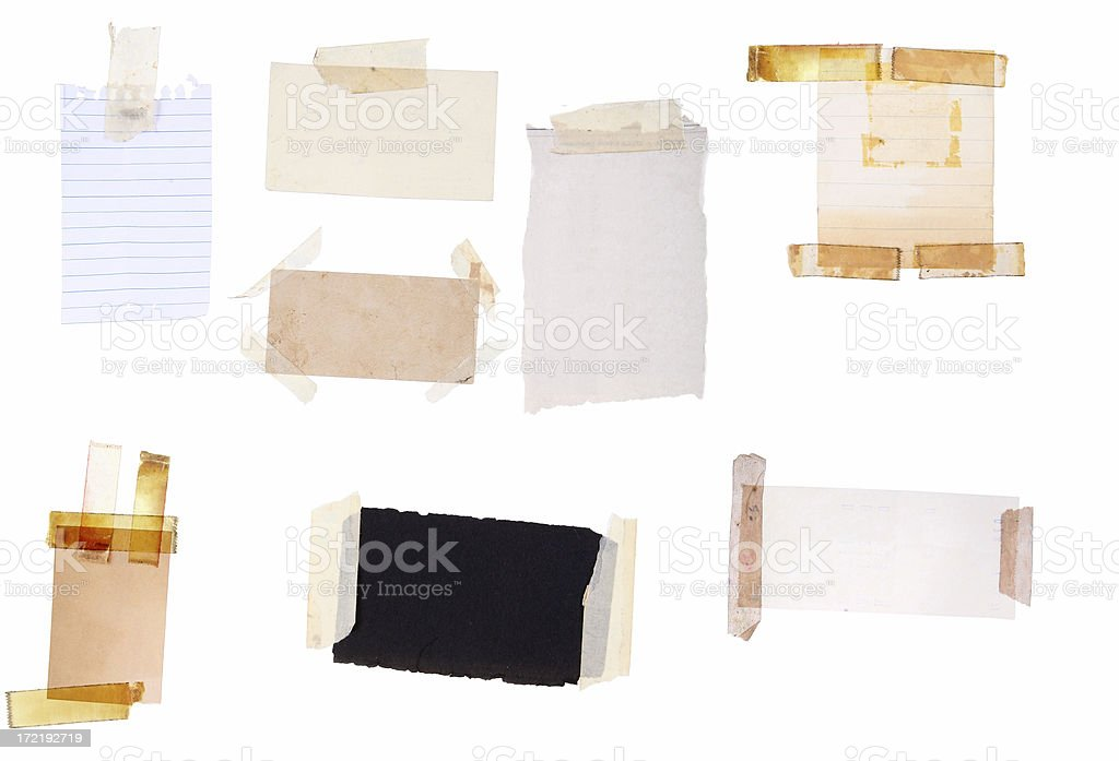 Scrap Paper Pieces royalty-free stock photo