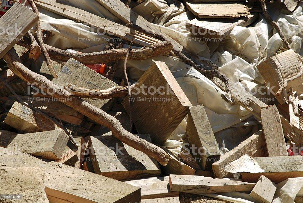 Scrap pile 3 stock photo