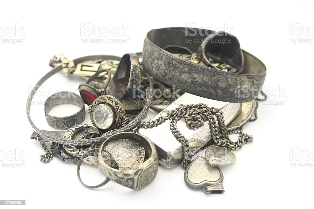 Scrap Silver royalty-free stock photo