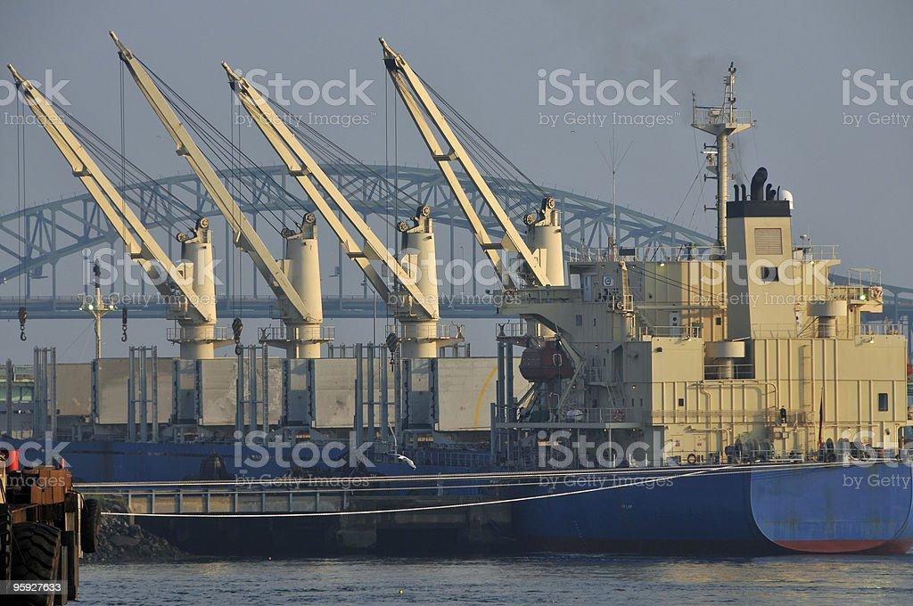 Scrap Steel Hauler Ship stock photo