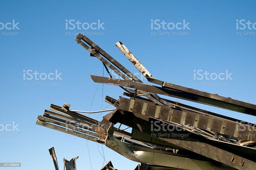 Scrap steel royalty-free stock photo