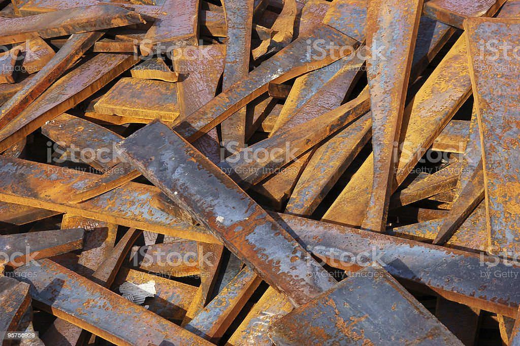 Scrap steel royalty-free stock photo