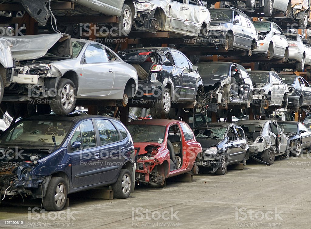 Scrap Vehicles stock photo