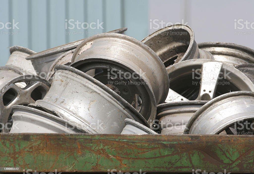 Scrap Wheels royalty-free stock photo