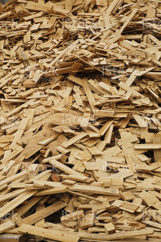 Scrap wood. stock photo