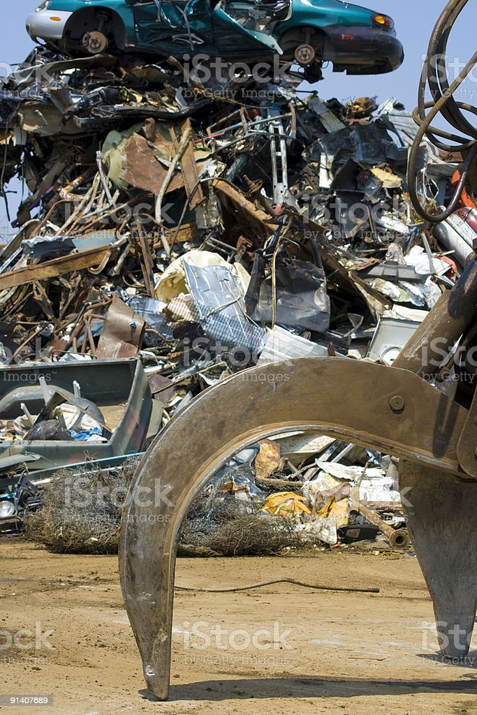 scrap yard claw royalty-free stock photo