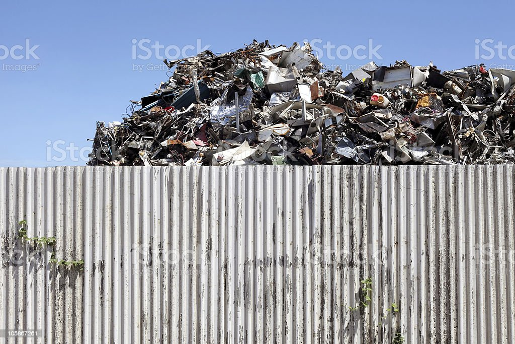 Scrap yard royalty-free stock photo