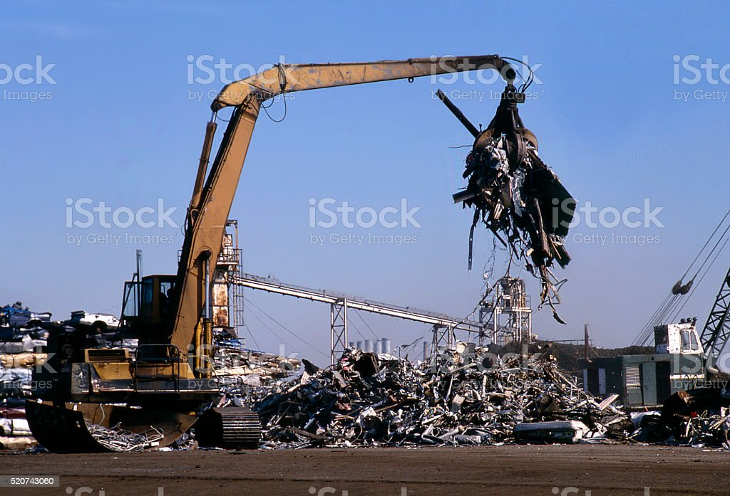 scrap yard stock photo