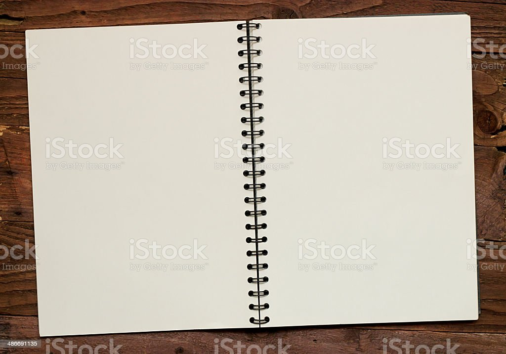 Scrapbook Double page spread stock photo