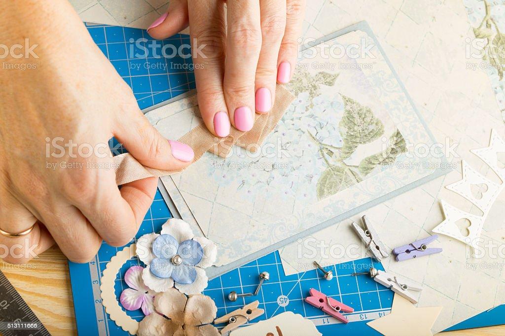 scrapbook stock photo