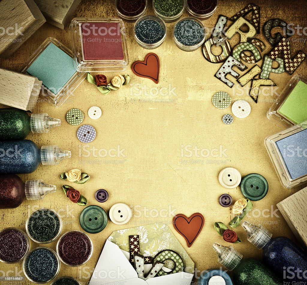 Scrapbooking Background stock photo