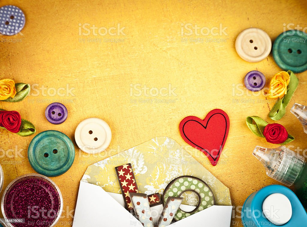 Scrapbooking Background royalty-free stock photo