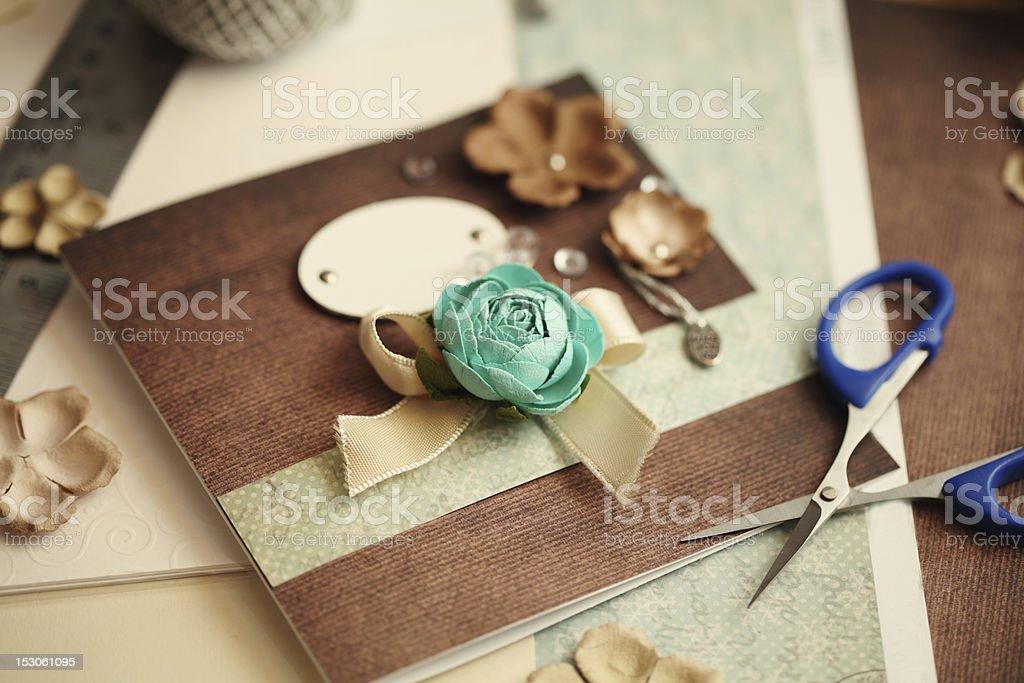 scrapbooking elements stock photo