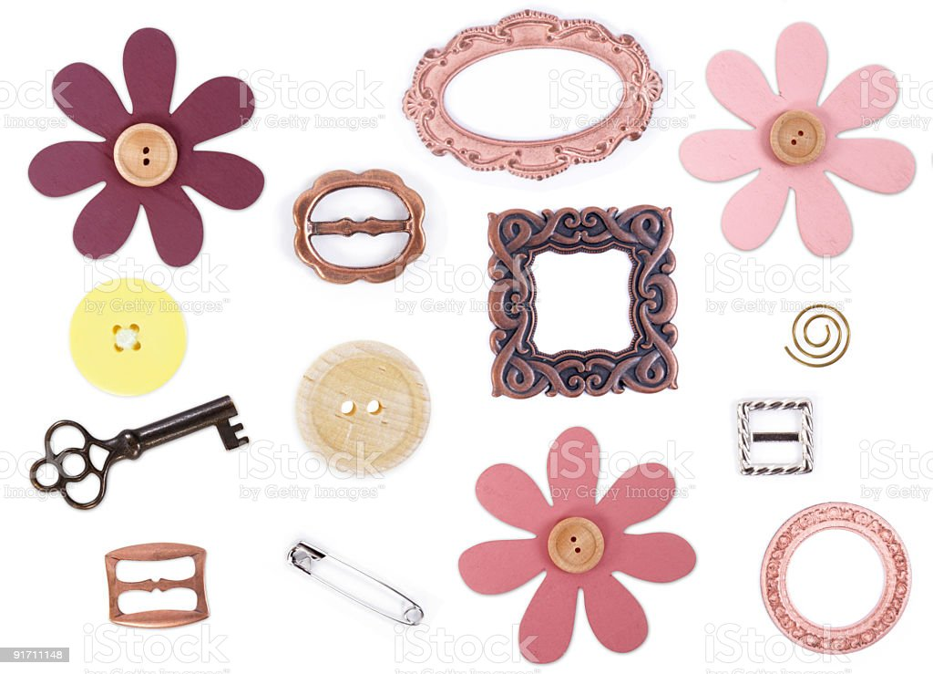 Scrapbooking Items stock photo