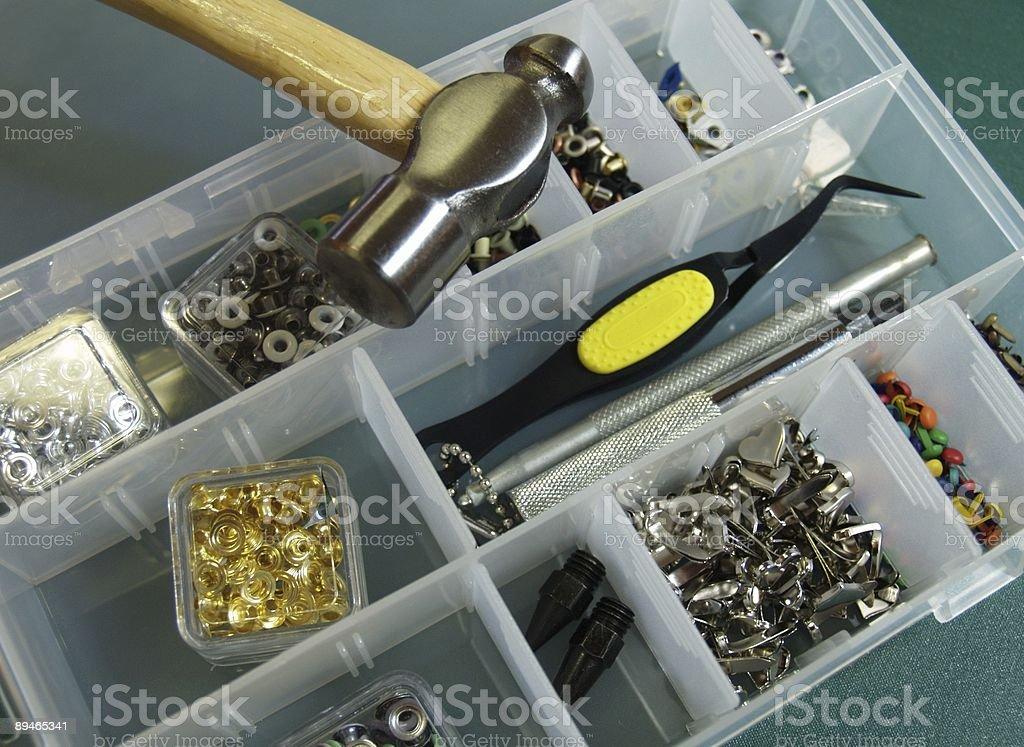 Scrapbooking Supplies stock photo