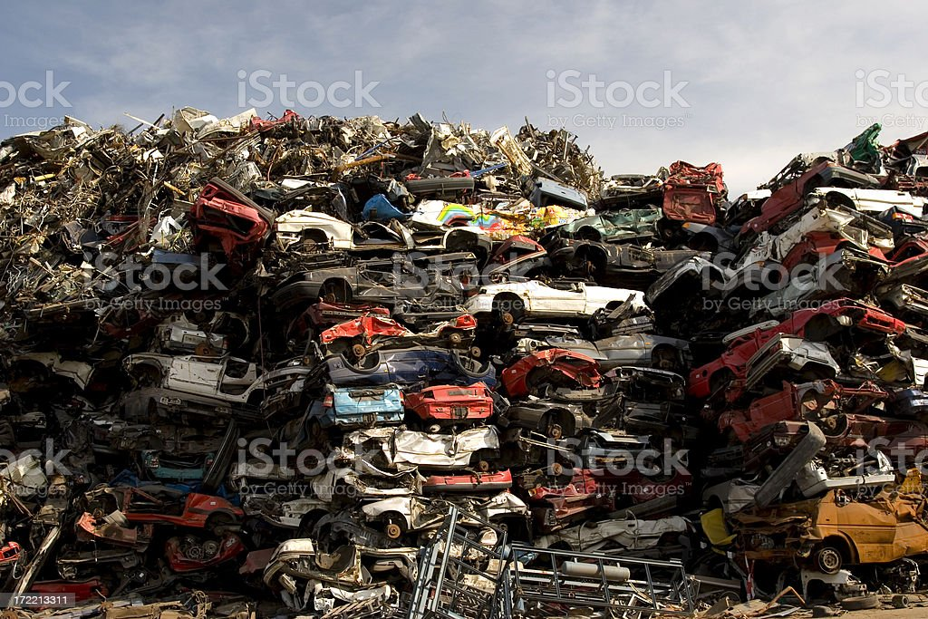 Scrapheap royalty-free stock photo