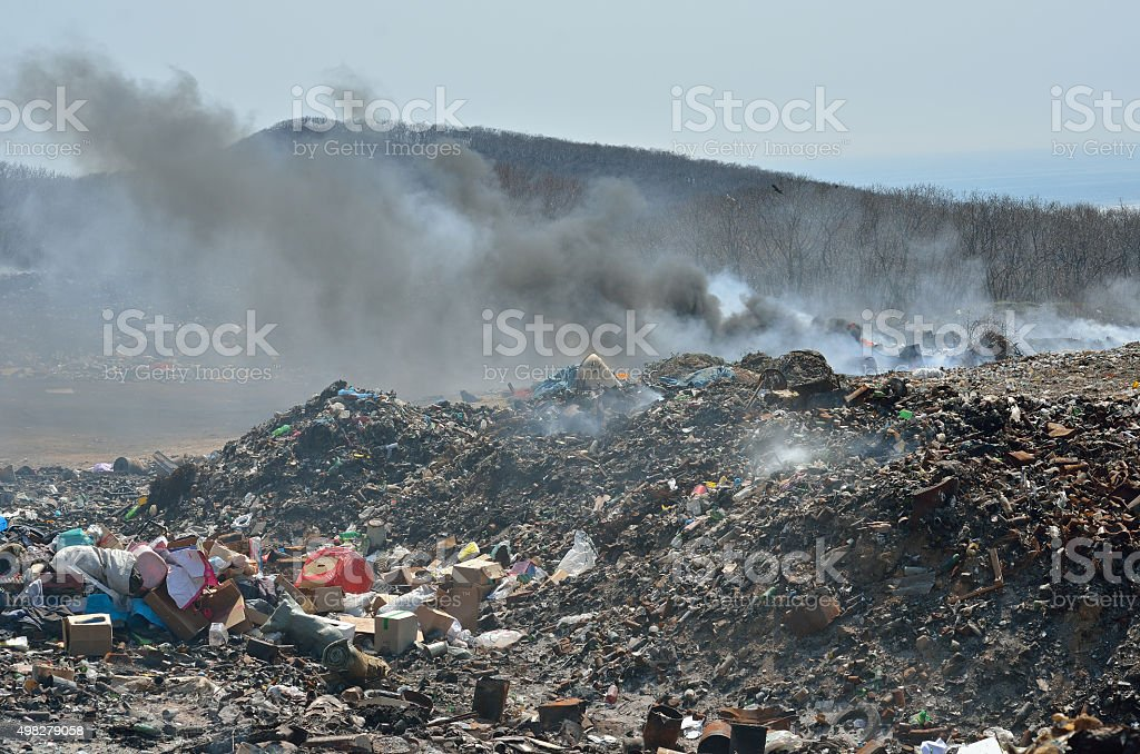 Scrap-heap stock photo