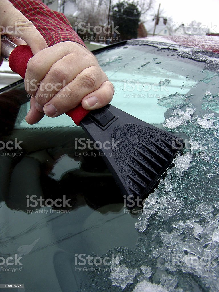 Scraping Ice royalty-free stock photo